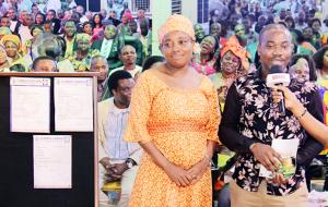 Señor Igboerika y su esposa.